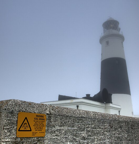 Alderney Lighthouse in the Fog. The Fog Horn is to be Finally Silenced by NeilAlderney