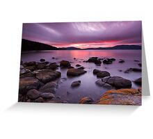 Sunrise Near Ninepin Point, Tasmania Greeting Card