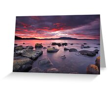Sunrise Near Ninepin Point, Tasmania #3 Greeting Card