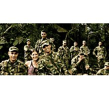 Colombian Soldiers... Photographic Print