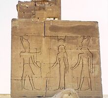 Egypt, Dendera - Osiris,Hathor & Horus  by ishtarsands