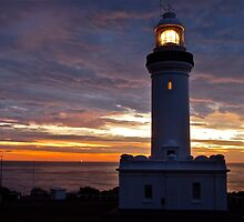 Norah Head Lighthouse at dawn..no2. by Warren  Patten