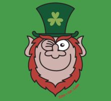 St Paddy's Day Leprechaun Winking and Smiling  by Zoo-co