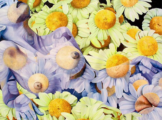"""""""Primavera Dos"""" - human and floral subject combined by James  Knowles"""