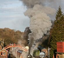 Steam Train in Goathland by Keith Larby