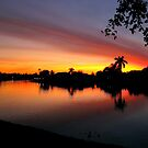 Sunset over Man Made Lake by Glenn Cecero