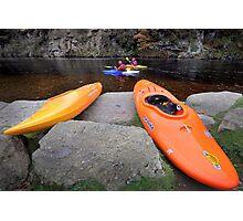 Focus on Canoeing Photographic Print