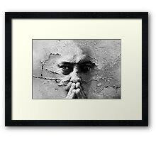 Talking To A Wall Framed Print