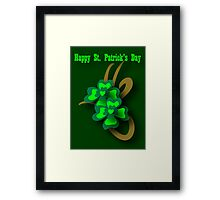 St. Patrick's Tribal Shamrocks Framed Print