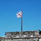 Spanish flag over Castillo San Marcos by Ben Waggoner