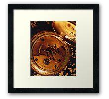 Antique Watch Innards Framed Print