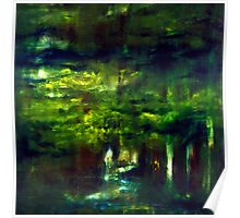 """Forest One"" - abstract oil painting impression of trees    Poster"