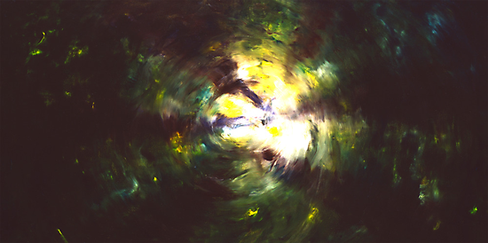 """""""Forest Two"""" - abstract oil painting impression of trees by James  Knowles"""