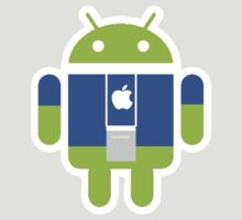 Apple Android cross over staff by PIXELATED DINOSAUR ILLUSTRATIONS