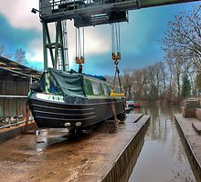 Debdale Canal Boat Maintenance Yard: Leicestershire, England, UK. by DonDavisUK