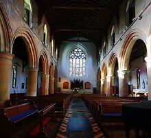 St Mary, Rye - Nave Looking West by Dave Godden