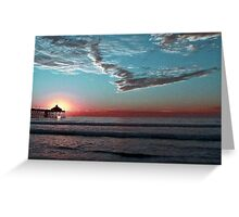Setting The Sun In a Wintery Sky Greeting Card