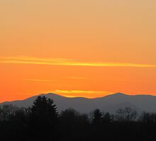 Orange Sunset in The Smokies by Jean Gregory  Evans