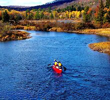 Autumn Canoeing In The Adirondacks by briansbabe