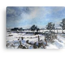 Easter snow in Skipton Metal Print