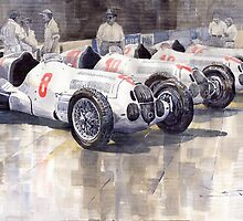 1937 Monaco GP Team Mercedes Benz W125 by Yuriy Shevchuk