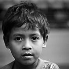 B/W portrait - Indonesian Boy 1 by kaledyson