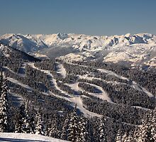 Blackcomb ski runs by Charles Kosina