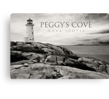 Lighthouse on Peggy's Cove Canvas Print