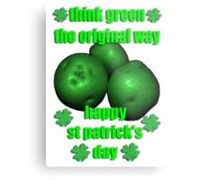 think green - potatos Metal Print