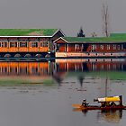 Reflection of Colors and Dal Lake by Mukesh Srivastava