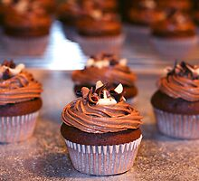 Chocolate Mini Cupcakes by MagzParmenter