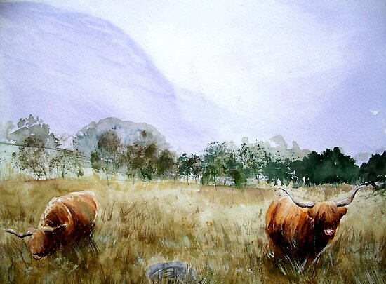 Highland Friends  by Rebecca Yoxall