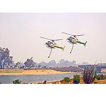 Helitankers Approaching Champion Lakes  Photographic Print