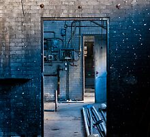 The Dirty Blue Doorway by Nathan Schmidt
