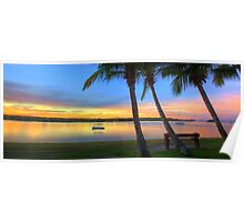 Noosa River Sunset Panoramic Poster