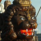 Crowned lion figurehead by steppeland