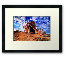 Oil Storage Tanks - Saint Jo , Texas Framed Print