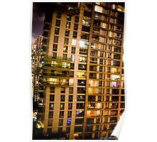 Shanghai building at night Poster