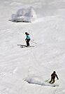 The three stages of the skiier: BEGINNER! INTERMEDIATE! ADVANCED! by Ryan Davison Crisp