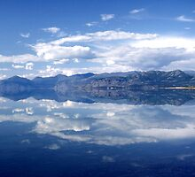 Kluane Lake Reflection - Yukon Territory by Harry Snowden