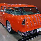orange wagon by Bill Dutting