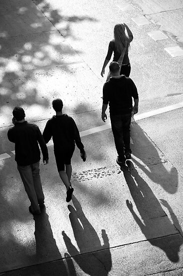 peoplescapes #252, four shadowed by stickelsimages