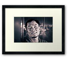 The Street Bartender. Framed Print