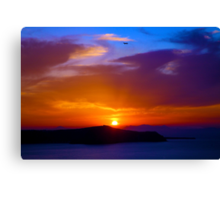 Greece and Sunsets Canvas Print