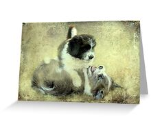 """""""& they call it Puppy Love ..."""" Greeting Card"""