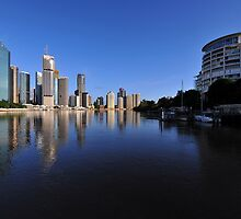 Brisbane River and City at dawn. Queensland, Australia.(4) by Ralph de Zilva