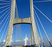 The Vasco da Gama Bridge - Lisbon by Marilyn Harris