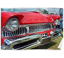 restored red ford mercury Poster