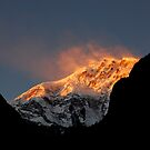 """Sunset on Lamjung Himal"" by Breanna Stewart"