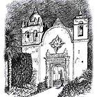 Carmel Mission, California by MarkArt